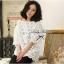 Lady Ribbon Lace Loose Blouse เสื้อผ้าลูกไม้ฉลุลายทั้งตัว thumbnail 1