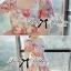 Lady Ribbon มินิเดรสแขนสั้น พิมพ์ลายดอกไม้โทนสีชมพู ลุควินเทจ thumbnail 8