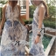 Lady Ribbon Blue Print Maxi Dress thumbnail 2