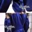 Lady Ribbon มินิเดรสสีน้ำเงิน ดีเทลช่วงอก แต่งลูกไม้ซีทรูสีดำ thumbnail 7