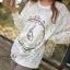 Icevanilla เสื้อลูกไม้ซีทรูแขนยาว แต่งรูปกระต่าย thumbnail 1
