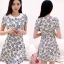 Icevanilla Floral Pearl & Diamond Print Dress thumbnail 7