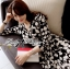 Lady Ribbon Black and White Daisy Wrap Maxi Dress thumbnail 7