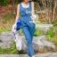Seoul Secret Nifty Blue Tenderness Gene Long Playsuit thumbnail 5