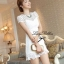 Lady Ribbon White Blossom Embroidery Gala Mini Dress thumbnail 2