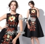 Lady Ribbon D&G Red Florals Embroidered Black Dress thumbnail 5