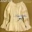 Lady Ribbon เสื้อแขนยาวเปิดไหล่ สีครีม-สีขาว thumbnail 13