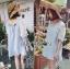 Lady Ribbon Lace-Sleeve Mini Dress with Ribbon thumbnail 2