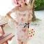 Lady Ribbon Sweet Floral Printed Silk Cotton Ruffle Dress thumbnail 3