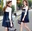 Lady Ribbon Embellished Cotton and Denim Shirt Dress thumbnail 8