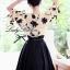 Lady Ribbon ชุดเซ็ตเสื้อปักลายดอกไม้ พร้อมกระโปรงยาว thumbnail 7