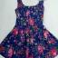Lovely Floral Mini Dress มินิเดรสแขนกุด ลายดอกไม้ สียีนส์ สีขาว thumbnail 9