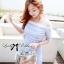 Lady Ribbon Baby Blue Graphic Dress thumbnail 1