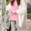 เสื้อยืดตัวยาว สีชมพูหวาน แต่งซิปด้านข้าง ชายเสื้อด้านหน้าสั้น ด้านหลังยาว thumbnail 8