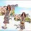 Lady Ribbon B&W Stripe Maxi Korea แม็กซี่ลายขวาง สุด Chic thumbnail 2