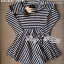 Lady Ribbon Mixed Striped Easy Dress thumbnail 7
