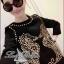 Lady Ribbon Black Dress Seahorse Gold Stud มินิเดรสสีดำ ปักหมุด thumbnail 1