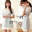 Lady Ribbon Baby Blue Graphic Dress thumbnail 4