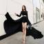 Lady Ribbon Glam Chic Evening-wear Maxi Dress thumbnail 1