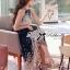 Lady Ribbon Maxi Dress เดรสยาวผูกคอพิมพ์ลายดอกไม้สไตล์เซ็กซี่ thumbnail 5