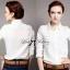Lady Ribbon Shirt เสื้อเชิ้ตสีขาว แต่งผ้าลูกไม้น่ารัก thumbnail 2