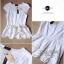 Lady Ribbon เสื้อปักฉลุกุหลาบ ระบายชาย สีขาว ชมพู กรมท่า thumbnail 9