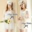 Lady Ribbon Lace Dress เดรสชีฟองแขนยาว ชายระบายลูกไม้ thumbnail 3