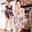 Lady Ribbon Spring Floral Printed Jumpsuit thumbnail 1
