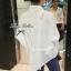 Lady Ribbon Lace Shirt เสื้อเชิ้ตแขนยาว ไหล่ลูกไม้ฉลุดอกไม้ ขาว/ดำ thumbnail 7