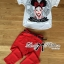 Lady Ribbon Girl Printed Top and Red Pants Set thumbnail 4