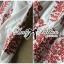 Lady Ribbon Top เสื้อแขนยาวสีขาวปักลายธรรมชาติ สีแดง thumbnail 11