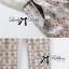 Lady Ribbon จั๊มสูทตัดต่อผ้าลูกไม้และผ้าพิมพ์ลายสไตล์สมาร์ท thumbnail 9