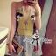 Lady Ribbon Dress เดรสแขนกุดตัดต่อผ้าพิมพ์ลาย thumbnail 1