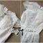 Luxury Lace Dress เดรสผ้าลูกไม้ ทรงคอปิด แต่งเพชรและมุก thumbnail 7