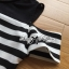 Lady Ribbon Cut-Out Shoulder Striped Maxi Dress thumbnail 9