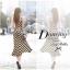 Lady Ribbon B&W Stripe Maxi Korea แม็กซี่ลายขวาง สุด Chic thumbnail 6