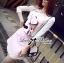 Lady Ribbon Sweet Little Girl Printed Embellished Pink Set thumbnail 4