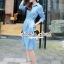 Seoul Secret Chic Denim Dress Shirt thumbnail 4