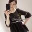Seoul Secret เสื้อผ้าชีฟองเนื้อทราย สีขาว สีดำ แต่งเลื่อมสีเงิน thumbnail 9