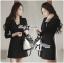 Lady Ribbon Smart Casual Wrap Suit Dress thumbnail 2