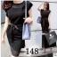 Classic Style เดรสสีดำ ผ้าชีฟอง พร้อมเชือกผูกโบว์ที่เอว thumbnail 1