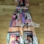 Lady Ribbon Orchid Printed Satin Long Dress with Daisy Belt thumbnail 6