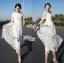 Lady Ribbon Dress เดรสผ้าลูกไม้สไตล์คลาสสิควินเทจ thumbnail 6
