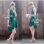 Lady Ribbon มินิเดรสแขนกุด สีเขียว ชายกระโปรงทรงเก๋ๆ thumbnail 1