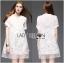 Lady Ribbon Crystal Embellished Organza Shirt Dress thumbnail 4