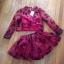 Cliona ชุดเซ็ทเสื้อผ้าแก้ว ลายดอกไม้ดำ พร้อมเกาะอกและกระโปรง thumbnail 8
