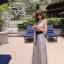 Odee Cutie Korean Style Maxi Dress ชุดเดรสยาวสีเทา แขนกุด thumbnail 1