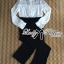 Lady Ribbon Lace Blouse and Flared Pants Jumpsuit thumbnail 8