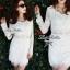 Lady Ribbon Lace Mini Dress มินิเดรสแขนยาว ดีเทลลูกไม้ทั้งตัว thumbnail 2