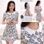 Icevanilla Floral Pearl & Diamond Print Dress thumbnail 5
